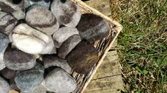 Felted Castile Soap Stone All natural  gentle cleaning for face, body, and home. - pinned by pin4etsy.com