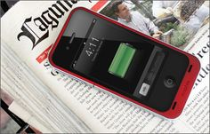 mophie juice pack air (PRODUCT)RED - Protective, Rechargable external battery case for iPhone 4/4S