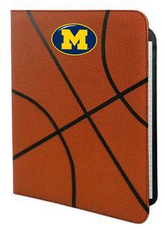 Michigan Wolverines Classic Basketball Portfolio - 8.5 x 11