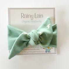 Baby, toddler, child, adult organic, handmade headwrap (headband). Beautiful mint with white birds in flight. Made by Rainy Lain. #organicstyle www.rainylainhandmade.com