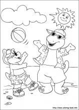 barney coloring pages house   printable barney pictures   Barney Coloring Pages Free ...