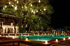 Riverside Boutique Resort at night, Vang Vieng, Laos