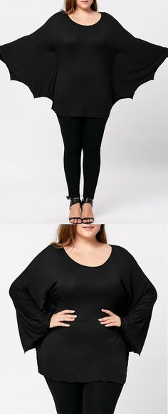 Up to 60% OFF! Plus Size Halloween Batwing T-shirt. Zaful, zaful shop, zaful tops,plus size,plus size fashion,plus size outfit,plus size tops, plus size blouses,plus size t shirts,fashion,fall fashion,fall fashion, winter outfits, winter fashion, t shirt