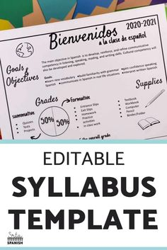 Syllabus for Spanish Class
