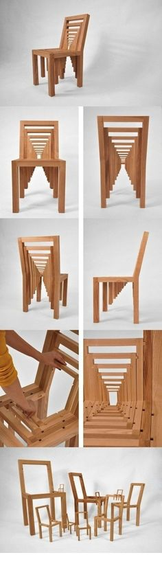 Nested chair(s), very cool