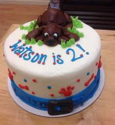 Dog Cake from Sara's Sweets Bakery Grand Rapids MI