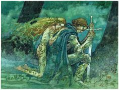 illustration by Rebecca Guay. Fantasy Couples, Fairytale Art, Pre Raphaelite, Comic Artist, Magic The Gathering, Faeries, Painting & Drawing, Fantasy Art, Fantasy Drawings