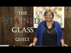 The Stained Glass Quilt Tutorial from Jenny Doan at the Missouri Star Quilt Co. - uses jelly roll strips Quilting Tips, Quilting Tutorials, Msqc Tutorials, Quilting Projects, Quilting Fabric, Applique Quilts, Jenny Doan Tutorials, Missouri Quilt Tutorials, Stained Glass Quilt