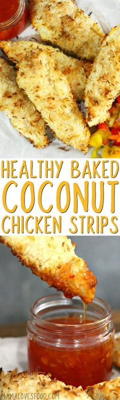came out SO good, we made ours in the oven. might try frying next time! - COCONUT CHICKEN #chicken #coconut #coconutchicken #paleo #paleorecipe #healthydinner