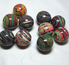 polymer clay ideas | very cool Polymer Clay Beads | Craft ideas