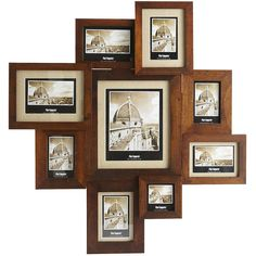 Pier 1 Imports Nottingham Collage Photo Frame ($90) ❤ liked on Polyvore featuring home, home decor, frames, art, backgrounds, room, borders, brown, picture frame and collage frames