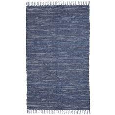 "Amazon.com - Extra Weave USA Handwoven Cotton Denim Rug, 44"" X 72"" - Area Rugs"