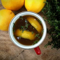 Cold mornings, warm bone broth 😊 today with mums lemons and fresh thyme, it's going to be a good day! #organic #bonebroth #byronbay #healthy #healthfood #wholefoods #realfood #healing #nourish #wellness #feelbetter #paleo #nutrition #fitness #local #fresh #balance #glutenfree #pastured #life #immune