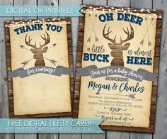 Deer Baby Shower Invitation, Deer Baby Shower Invite, Oh Deer Baby Shower Invitation, Rustic Baby Shower Invitation #517 by PerfectPrintableCo on Etsy