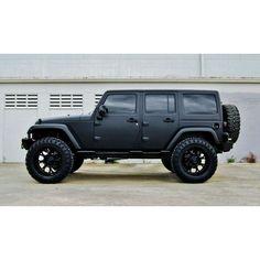 Jeep Rubicon Black Matte All Car Car Picture Ideas Jeep Rubicon, Jeep Wrangler Negro, Black Jeep Wrangler Unlimited, 4 Door Jeep Wrangler, Wrangler Sahara, Auto Jeep, Jeep Jk, Jeep Truck, Ford Trucks