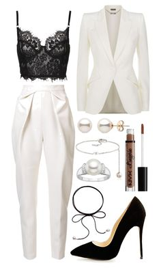 A fashion look from December 2016 featuring blazer jacket, pleated pants and bralette bras. Browse and shop related looks. Dressy Outfits, Mode Outfits, Stylish Outfits, Fashion Outfits, Moda Chic, Looks Chic, Inspiration Mode, Mode Hijab, Elegant Outfit