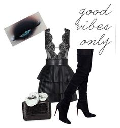 """""""Good vibes only"""" by pinkcrema on Polyvore featuring moda, Agent Provocateur, Balmain ve Nancy Gonzalez"""