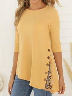 VividYou Womens Solid Cotton Warm Long Sleeve Top Shirts Tunic