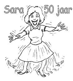 sarah 50 jaar kleurplaat 33 best Flevokids Kleurplaten images on Pinterest | Printable  sarah 50 jaar kleurplaat
