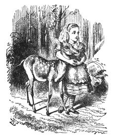 Alice and the fawn  Illustrated by John Tenniel
