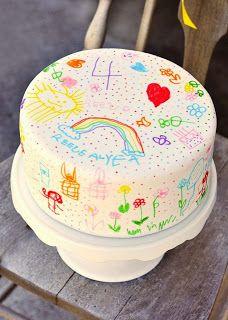 mille idee per una festa: Arcobaleno: torta decorata dalla festeggiata