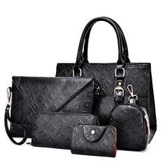 9a66e9e100f9 JOOZ Luxury PU Leather 5 Pcs Handbag