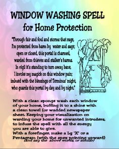 Window Washing Spell for Home Protection