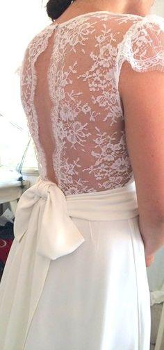 Wedding dress back Wedding Robe, Wedding Dress Backs, White Wedding Dresses, Wedding Attire, Bridal Dresses, Wedding Gowns, Bridesmaid Dresses, Beautiful Bride, Beautiful Dresses