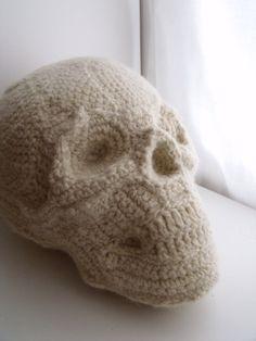 3D Human Skull Pillow - dearbitsy on Etsy.com