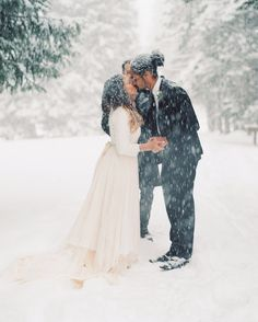 White Winter Mountain Elopement — Jann Marie Bridal