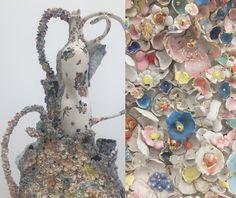 dimattio sculpture..Ceramics and paintings..cool