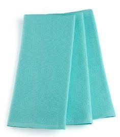 Martha Stewart Collection 3-Piece Blue Kitchen Towels Set.