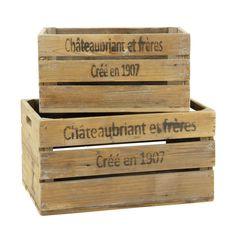 2 Holzkisten Châteaubriant
