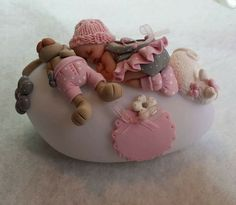 Fondant Figures, Clay Figures, Crate Crafts, Clay Fairy House, Clay Fairies, Fondant Baby, Baby Fairy, Clay Baby, Fondant Toppers