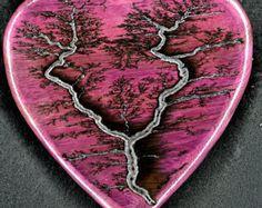 Padauk Lichtenberg Heart by HighVoltageArt on Etsy