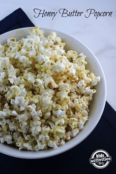 Delicious Honey Butter Popcorn recipe perfect for movie night!
