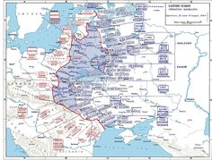 A map of Operation Bagration, the 1944 Soviet summer offensive pressing westward into Europe