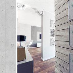 лофт  квартиры в проект однокомнатной стиле студии