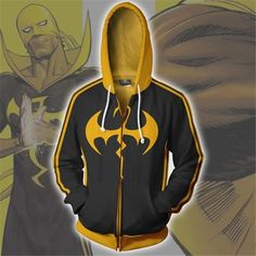Marvel Iron Fist Black Suit Superhero Zipper Hoodie Sweatshirt For Kids/Young sold by KS Store. Shop more products from KS Store on Storenvy, the home of independent small businesses all over the world. Marvel Anime, Marvel Jacket, Iron Fist Marvel, Mens Sweatshirts, Hoodies, Avengers, Marvel Cosplay, Superhero Movies, Black Suits