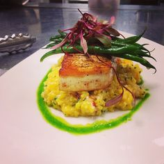 #sousvide #swordfish #lobster #risotto #haricotverts #sorrel  Photo cred: @mirbeauplymouth