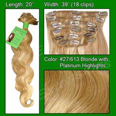 #27/613 Blonde w/ Platinum Highlights - 20 inch Body Wave