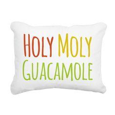 Holy Moly Guacamole Canvas Pillow