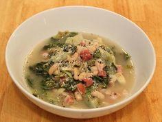 Escarole pancetta and beans