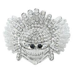 EVER FAITH Austrian Crystal Halloween Skull Bangle Bracelet Silver-Tone Clear http://www.amazon.com/dp/B00GYPLOIM/ref=cm_sw_r_pi_dp_gaAUvb0WZYQPF