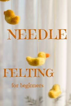 Needle Felting Crafts: Round-Up of Ideas and How-To's needle felting for beginners Wool Needle Felting, Needle Felting Tutorials, Needle Felted Animals, Wet Felting, Felt Animals, Easy Felt Crafts, Felt Diy, Bead Crafts, Beginner Felting