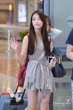 IU tank dress Cute Korean, Korean Girl, Asian Girl, Kpop Fashion, Korean Fashion, Airport Fashion, Korean Actresses, Airport Style, Korean Outfits