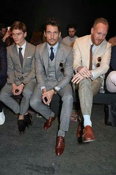 David Gandy with @Oliver_Cheshire & @joeottawaystyle Front row #Topman presentation #LCMSS16