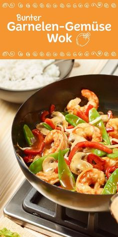 Das trifft sich ja gut. Garnelen und buntes Gemüse zusammen im Wok. Ein tolles low carb Rezept, was einfacher nicht geht und besonders fein schmeckt.