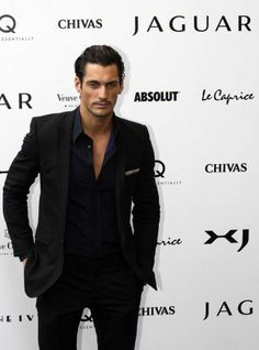This pictire PROVES David Gandy is a sharp dresser!!! Hot as hell here in this photo