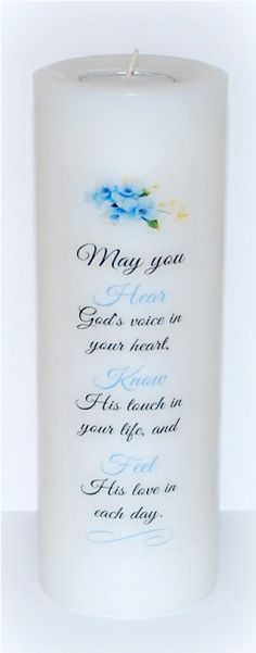 Blessing Candles Christian candles religious by DesignsbyDMCandles
